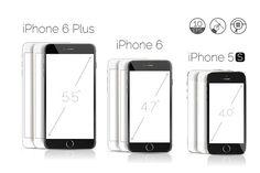 iPhone 6 Plus, 6, 5S detailed mockup by voin_Sveta on @creativemarket