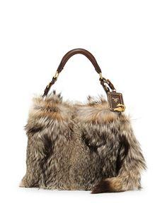 bdb4db30961c Prada Volpetta Shoulder Bag with Fur Charm