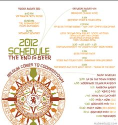 2012 Ommegang Belgium Comes to Cooperstown Schedule–The End Is Beer
