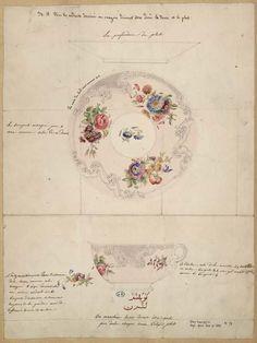 [Projet pour tasse et soucoupe] | Centre de documentation des musées - Les Arts Décoratifs
