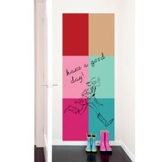 Blik Wall Decal - The Not Whiteboard by Blik #blikwalldecals - Oh my....i am in LOVE with this company!