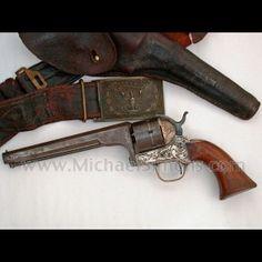 B. Moore Revolver with Civil War Inscription