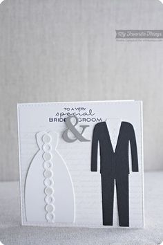 Romantic Script Background, Together Forever, Ampersand Die-namics, Bride & Groom Die-namics - Keisha Campbell #mftstamps