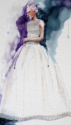 Lace Bodice Wedding dress illustration by Hilbrand Bos, via Behance