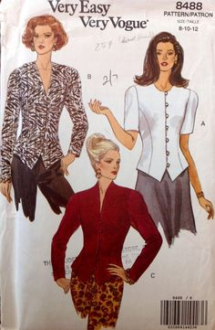 Very Easy Very Vogue 8488 UNCUT Misses Top by Lonestarblondie