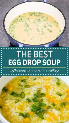 This easy egg drop soup is a simple dish made with beaten eggs, green onions, ginger and corn, all in a complex and savory broth. A classic dish that tastes even better than what you'd get at a restaurant!