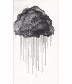 Watercolor Painting Print Lunar Black Raincloud on Etsy, $20.00
