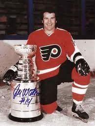 Joe Watson #14 1973-1974-1974-1975 Stanley Cup Flyers Hockey, Hockey Teams, Flyers Stanley Cup, Philadelphia Sports, Good Old Times, Nhl Players, Bullies, Pennsylvania, 1970s