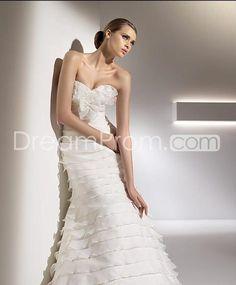Mermaid Sweetheart Chapel Chiffon Bridal Gown (3AC0064)