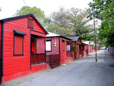 Red and black early 20th century firefighters homes - Ponce - Puerto Rico.