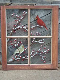 Great idea for old window painting.