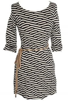 Adrift At Sea Rope Belted Dress
