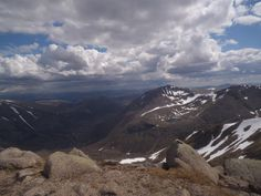 Gorgeous views in the Cairngorms just now - this is looking south from Braeriach. Not bad for an office view!