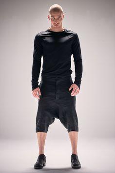 Powha Mens Clothes / Drop Crotch Pants / Linen Low Crotch by POWHA