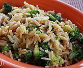 One-pot broccoli Asiago cheese orzo