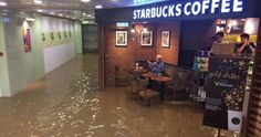 Someone shared an image of an old man sitting in a Starbucks coffee shop in Hong Kong completely unfazed by a flood and it inspired an awesome Photoshop battle. The customer was finishing up his coffee and newspaper and got nicknamed Starbucks Uncle. Now the Internet is constantly finding new places where to 'feature' him.