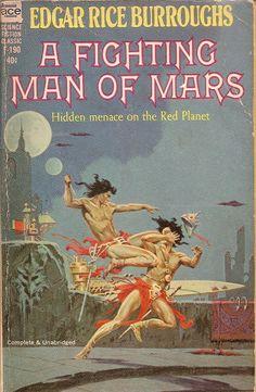 A Fighting Man of Mars - Edgar Rice Burroughs, cover by Roy Krenkel