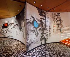 SushiSamba designed by CetraRuddy (view of graffiti wall)