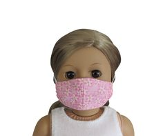 For 18-inch dolls. 18 Inch Doll, Doll Face, Doll Accessories, White Flowers, 18th, Floral Prints, Dolls, Pink, Baby Dolls