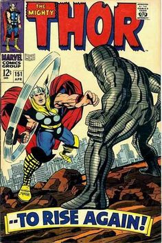 Thor #151 Jack Kirby Cover