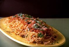 Spaghetti with Olives and Tomato Sauce from FoodNetwork.com - Giada - definitely a keeper!!!