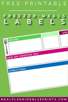 Pantry Cabinet Organization and Printable Labels – Bless & # er House – Experience Of Pantrys Freezer Meal Party, Budget Freezer Meals, Freezer Cooking, Budget Dinners, Groceries Budget, Freezer Recipes, Easy Recipes, Budget Meal Planning, Cooking On A Budget
