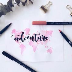 Our adventure starts here ❤️ D&S hand lettering drawing Calligraphy Doodles, Calligraphy Drawing, Calligraphy Handwriting, Calligraphy Quotes, Calligraphy Letters, Caligraphy, Doodle Fonts, Brush Lettering Quotes, Hand Lettering Art