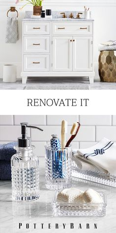 Whether it's a ten-minute transformation or a total overhaul, Pottery Barn is here with quick, easy and affordable ideas for your bath. Check out PotteryBarn.com today and start renovating!
