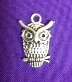 Silver tone Owl charms  Lot of 10 with 2 free by AnnPedenJewelry