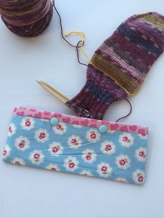 Double Pointed Knitting Needle Cozy - Crochet Hook Holder - DPN Pouch - Needle Cozy - Needle pouch - Sock Knitting Holder - Sock knitting by LowlandOriginals on Etsy