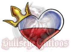 Polish Heart With Crown Tattoo Design at BullseyeTattoos.com