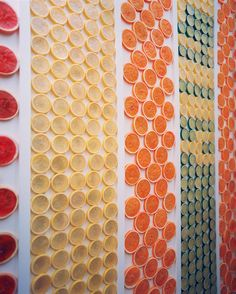 Wall Treatment - Walls adorned with citrus slices