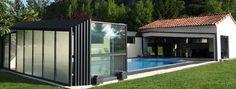 Abris de piscine fabriqués en France: abri bas, mi haut, haut, vérandas télescopiques, terrasses et fond mobile pour piscine. Demandez votre Devis Gratuit.