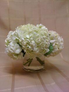 $39 simple white hydrangeas