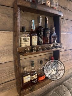Blantons display/liquor cabinet/bourbon gifts/upcycled   Etsy Blanton's Bourbon, Bourbon Gifts, Whiskey Gifts, Bar Shelves, Display Shelves, Drinks Cabinet, Liquor Cabinet, Bourbon Barrel Furniture, Whiskey Barrel Bar