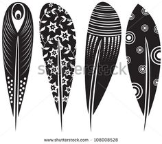 feathers - vector shutterstock