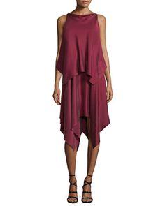 Greer+Sleeveless+Satin+Handkerchief+Dress,+Raspberry+by+Elizabeth+and+James+at+Neiman+Marcus.