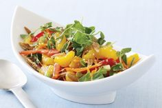 This simple and colourful salad is a great accompaniment to any weeknight meal.