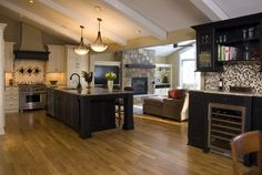 Traditional Kitchen Photos Narrow Kitchen Design, Pictures, Remodel, Decor and Ideas - page 33 Home, Home Kitchens, Kitchen Remodel, Kitchen Design, Family Room Addition, Kitchen Dining Room, Home Remodeling, Kitchen Family Rooms, Pantry Design
