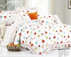 Lenjerie de pat bumbac Casa New Fashion pentru o persoana alba cu floricele colorate