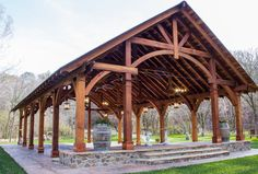 Cardinals Nest Pavilions (Options: L x W, Redwood with a warranty, Anchor Kit for Hurricane Anchors will be at least 24 Backyard Pavilion, Outdoor Pavilion, Outdoor Venues, Outdoor Stage, Pavilion Wedding, Casas Country, Wood Pergola, Dordogne, Barn Wedding Venue