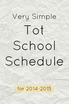 If you're busy and don't know how you're going to teach your toddler anything new on a daily basis, try out this simple tot school schedule. It takes minutes to fill out and only minutes to teach your child each day.