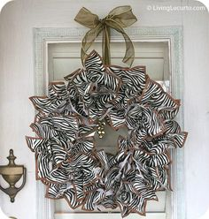 88 Beautiful Wreaths  #29.  DIY Napkin Paper Wreath ~ The theme of this wreath can be easily changed by simply using different cocktail napkins. Make one for any occasion.