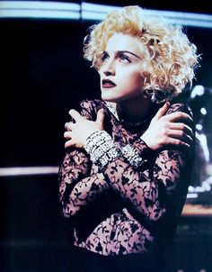 Madonna on set of her Vogue video in 1990 taken from the Blond Ambition Tour Book. Madonna Tour, Madonna 90s, Madonna Fashion, Madonna Photos, Lady Madonna, Rossana Arquette, X Files, Divas Pop, Film X