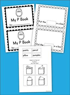 Free printable reader for the letter p - cut paste learning to read phonics sound of the week