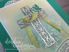 Debbie's Designs: Emboss-Resist Easter Card and Video! Homemade Greeting Cards, Hand Made Greeting Cards, Easter Greeting Cards, Making Greeting Cards, Greeting Cards Handmade, Homemade Cards, Easter Cards Religious, Confirmation Cards, Easter Messages