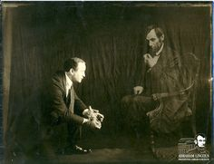 Harry Houdini and the Ghost of Abraham Lincoln.