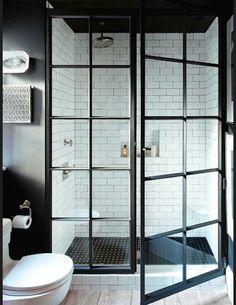 Les salles de bains vues sur Pinterest Decoration salle de bains carreaux blancs