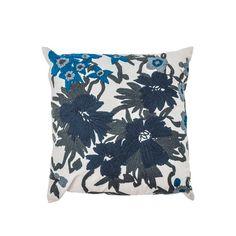 Capa Almofada Al Thorns Bromelia 45x45 Azul/bege