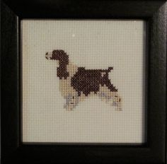 English Springer Spaniel Cross Stitched Full Body by pianstitches